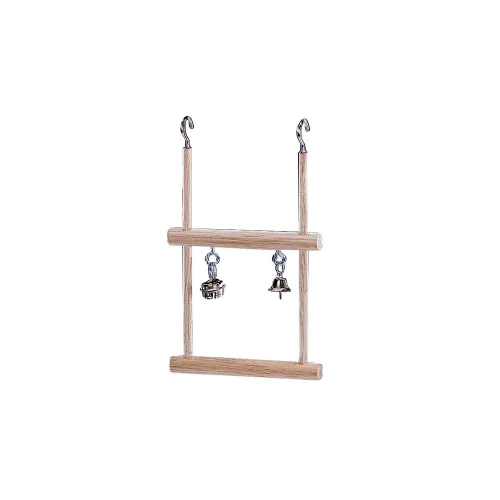 double balan oire en bois pour perruches ou canaris. Black Bedroom Furniture Sets. Home Design Ideas