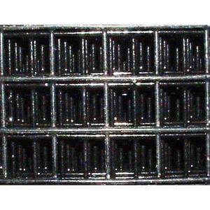 grillage galvanis 13 x 13 noir pour voli res qualitybird. Black Bedroom Furniture Sets. Home Design Ideas