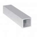 Tube carré aluminium 1 m