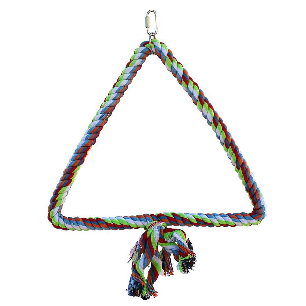 balan oire triangulaire color en corde pour perruche et perroquet. Black Bedroom Furniture Sets. Home Design Ideas