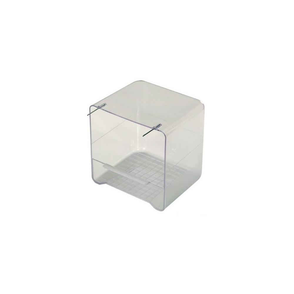 baignoire int rieure transparente pour cage et voli re oiseaux. Black Bedroom Furniture Sets. Home Design Ideas