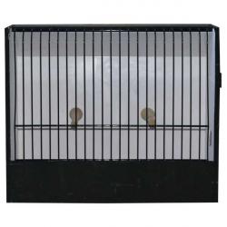 Cage d'exposition canari PVC noire