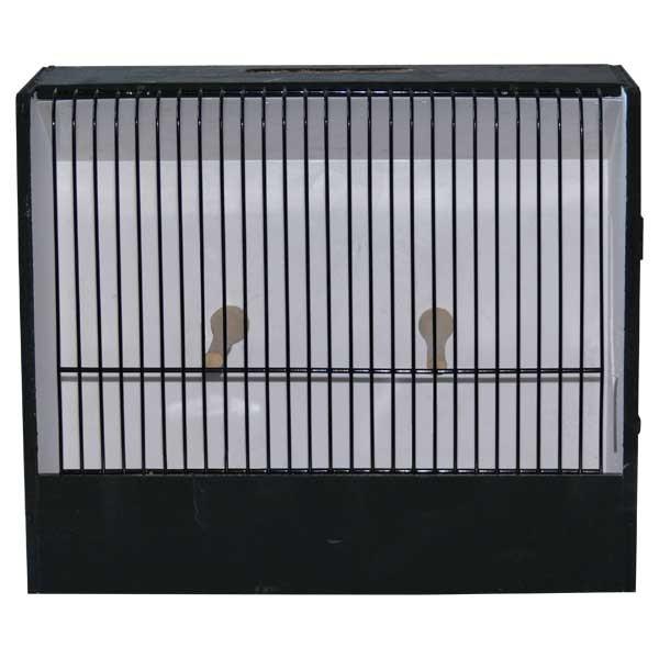 Cage d'exposition oiseaux exotiques PVC noire