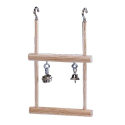 Double balançoire en bois