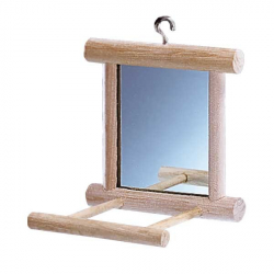 Perchoir en bois avec miroir
