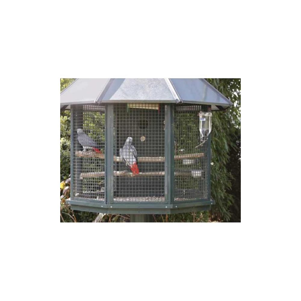 Fontaine en verre lixit pour grandes perruches et perroquets for Voliere exterieur perroquet