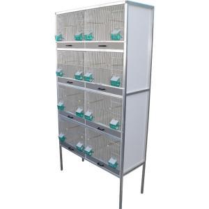 Batterie d'élevage canaris 8 box