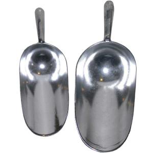 Pelle à graines en aluminium