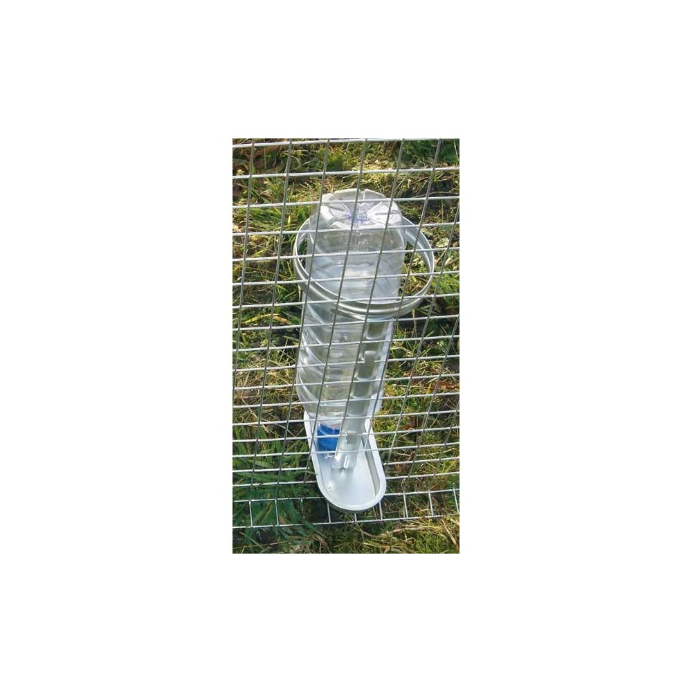 Abreuvoir porte bouteille galvanis pour volailles et for Abreuvoir lapin fait maison