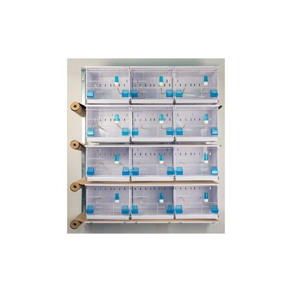 batterie d 39 levage 12 cages pour canaris et oiseaux exotiques. Black Bedroom Furniture Sets. Home Design Ideas