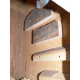 Nid perroquet en bois brut - échelle