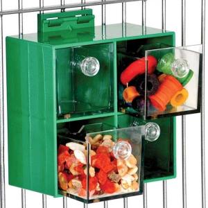 Boite à 4 tiroirs pour perroquets