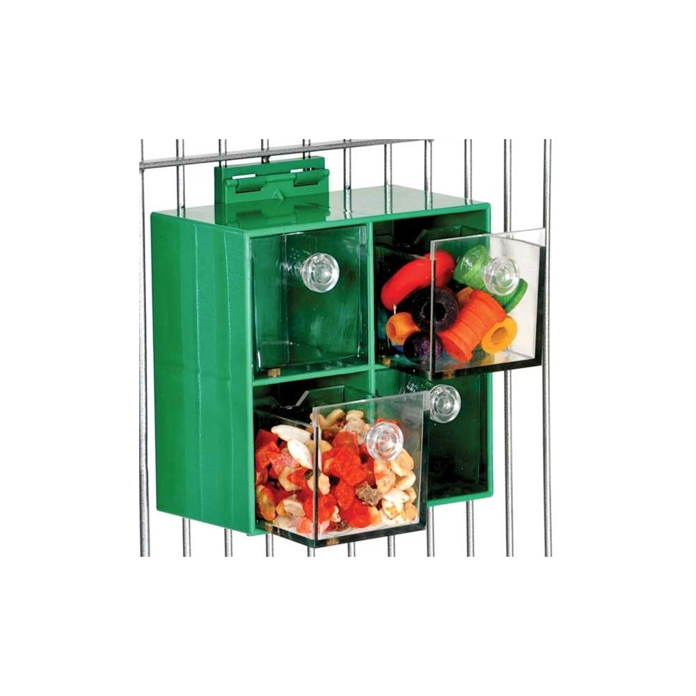 boite tiroirs pour stimuler les perroquets de type gris du gabon amazones cacatoes. Black Bedroom Furniture Sets. Home Design Ideas