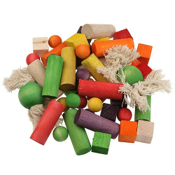 Blocs de bois multicolores
