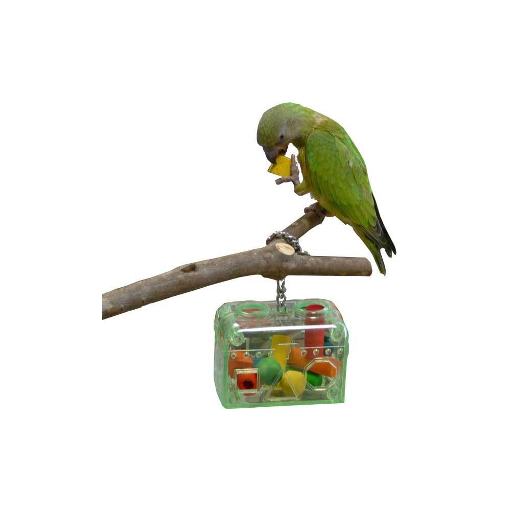 boite jouets pour perroquets qualitybird jouet. Black Bedroom Furniture Sets. Home Design Ideas