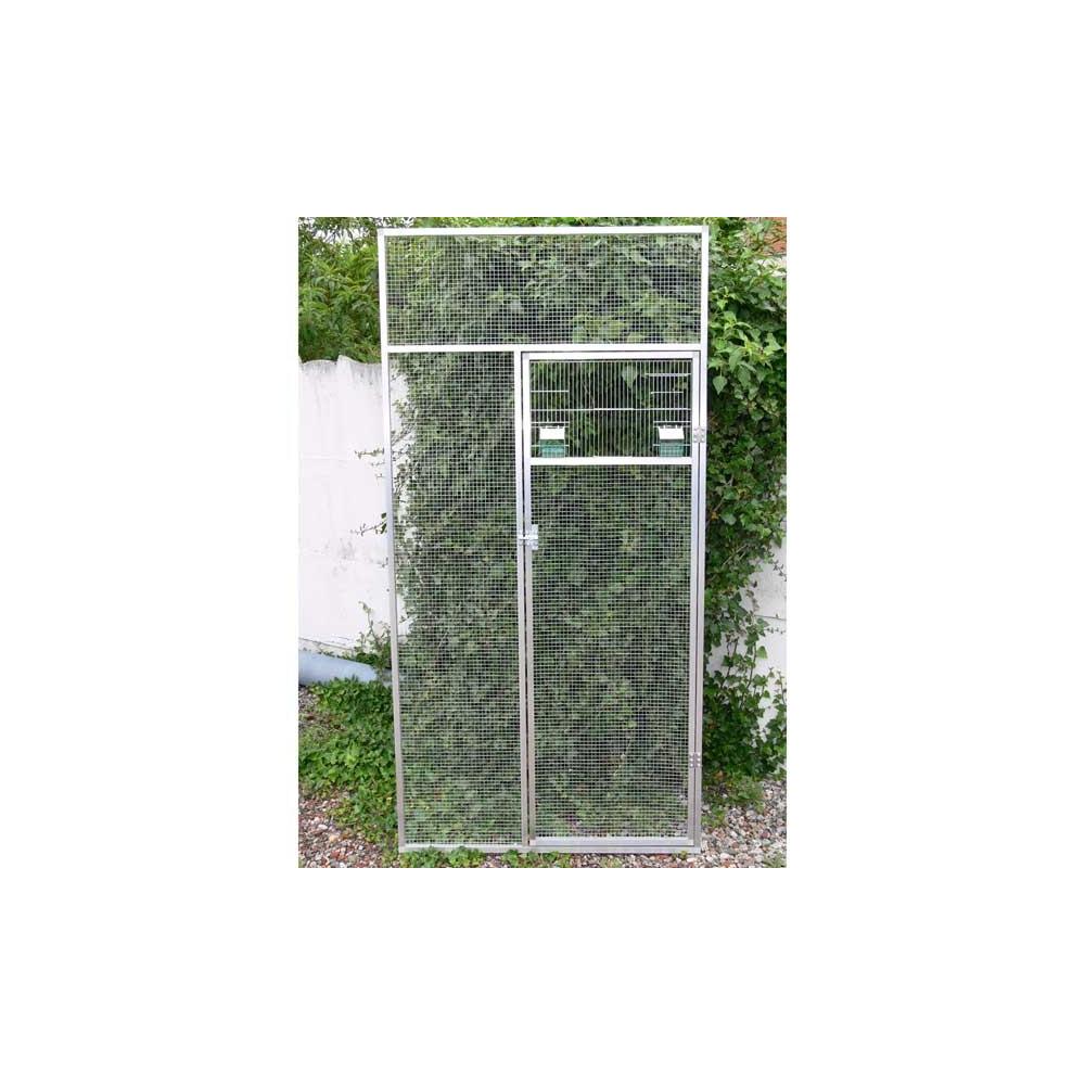 Panneau porte avec fa ade fauna pour voli re en aluminium for Panneau facade exterieur prix