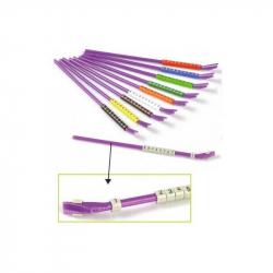 Bagues ouvertes plastique de couleurs diamètre 3 mm