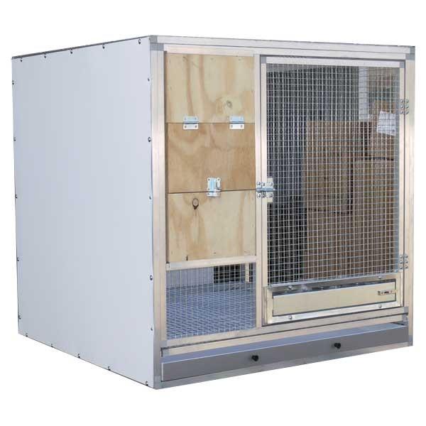 Box d'élevage gris du gabon 1m3