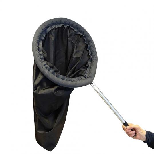 Epuisette noire 35 cm manche alu
