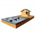 Parc à canards avec bassin