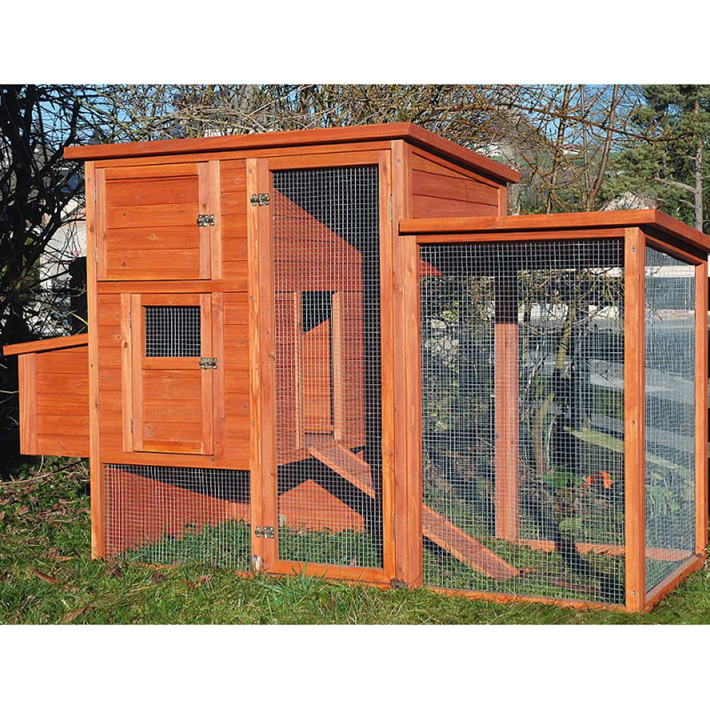 poulailler bois 3 ou 4 poules en sapin imputrescible avec. Black Bedroom Furniture Sets. Home Design Ideas