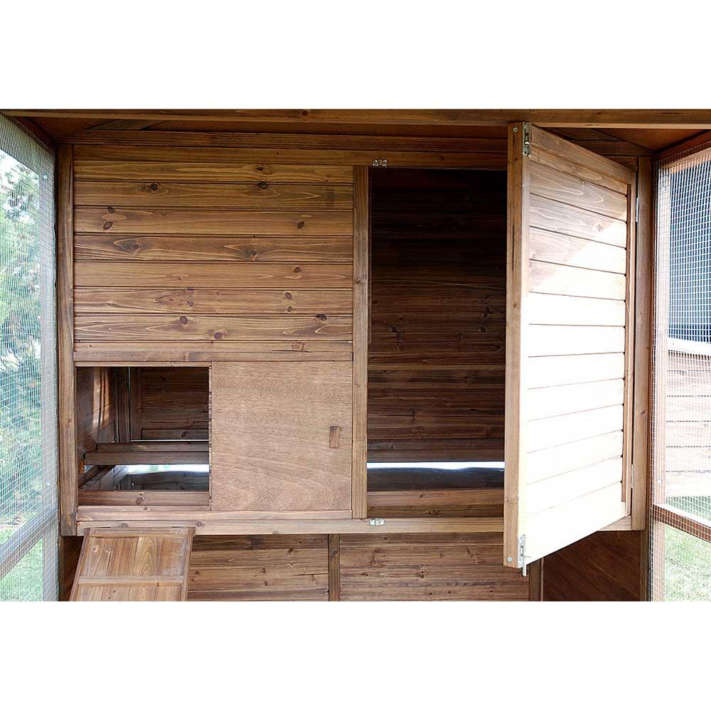 poulailler large square pour 10 12 poules traditionnelles. Black Bedroom Furniture Sets. Home Design Ideas