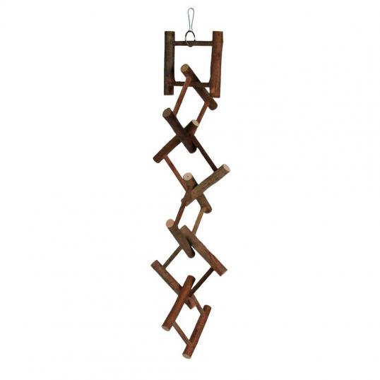 Echelle suspendue en carré de bois