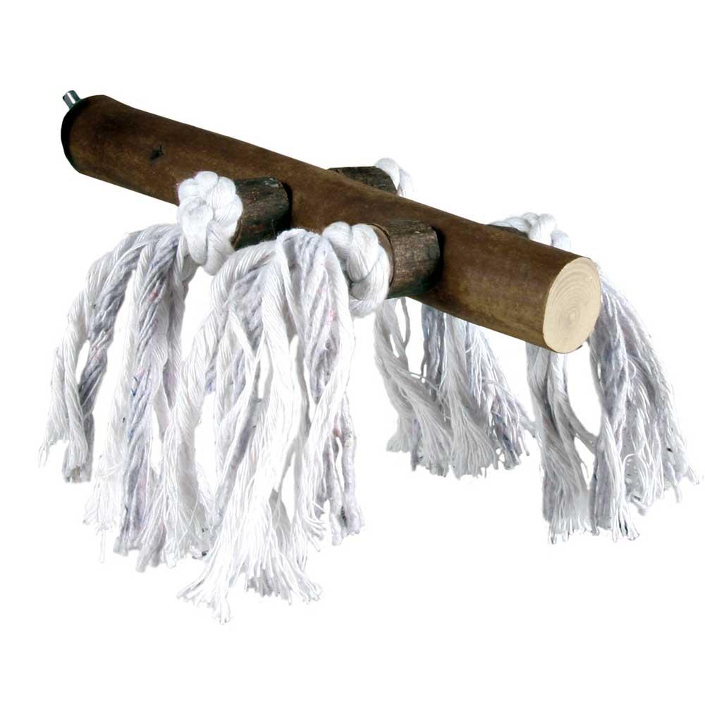 Perchoir bois et corde à visser