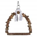 Arche suspendue en bois et corde