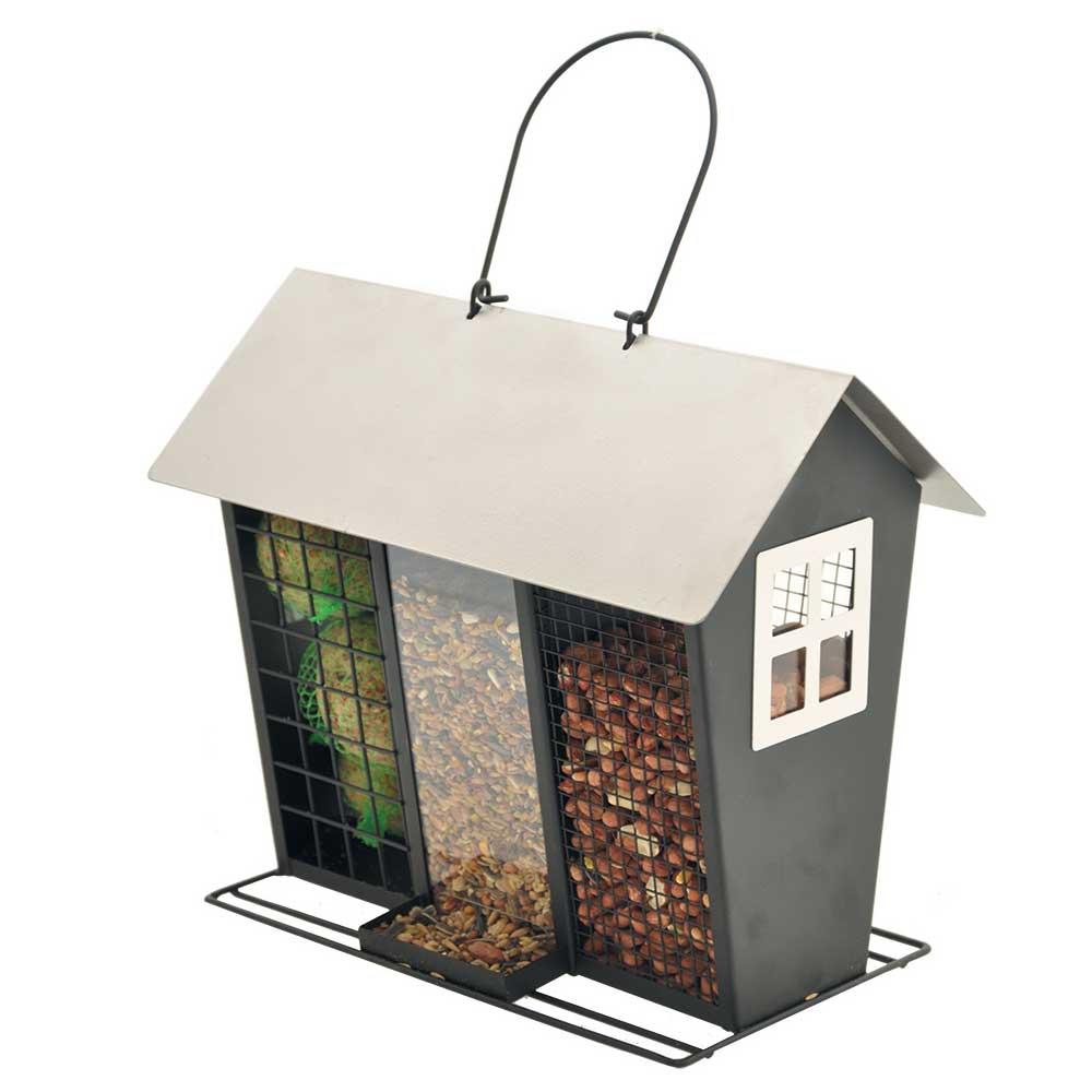mangeoire oiseaux du jardin 3 en 1 enia accessoires jardin. Black Bedroom Furniture Sets. Home Design Ideas