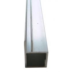 Tubes carrés aluminium rainurés 1 mètre