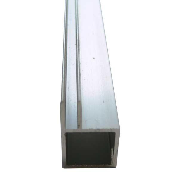 Tubes carrés aluminium rainurés 1 m