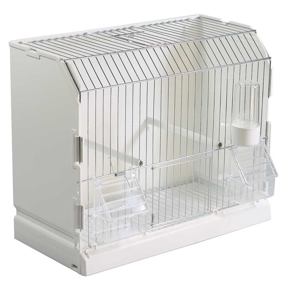 cage d exposition galvanis e 3 portes pour oiseaux exotiques et canaris. Black Bedroom Furniture Sets. Home Design Ideas