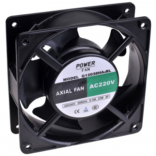 Ventilateur 220V AC, 120X120X38MM, Grumbach