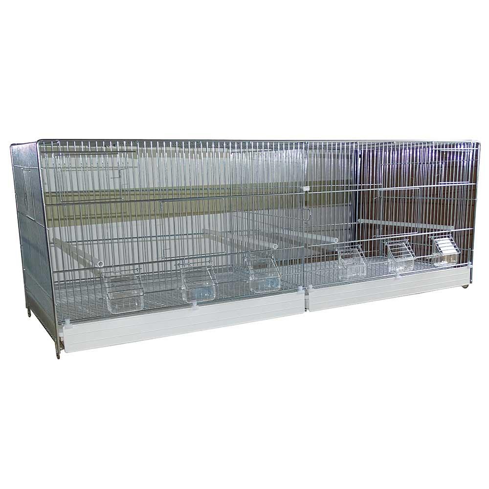 Cage élevage Cova 120 avec mangeoires extérieures et tiroir plastique