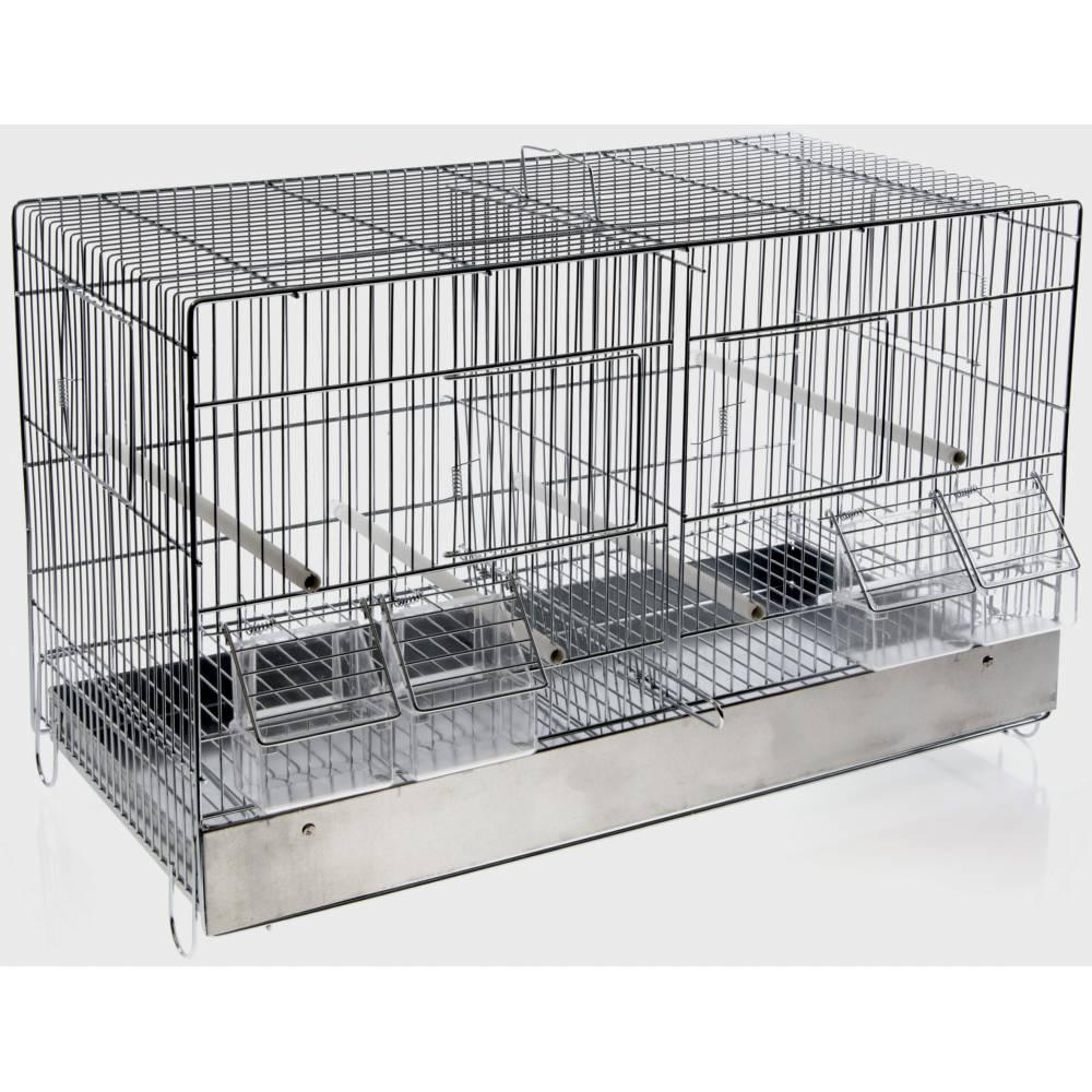 Cage Cova 55 avec tiroir galvanisé mangeoires extérieures