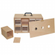 Valise de transport en bois 8 boites