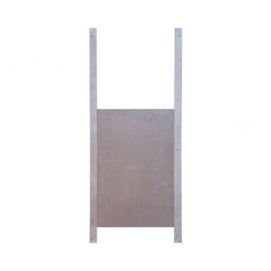 Trappe de sortie aluminium sur rails