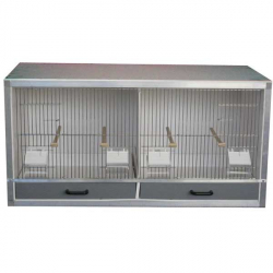 Cage élevage 2 box