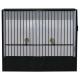 Cage d'exposition perruche PVC noire