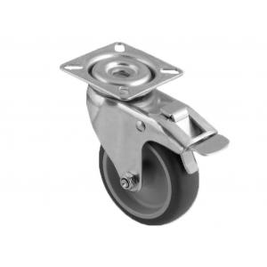 Roue à visser Platine métal avec frein
