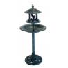 Fontaine abri métal pour les oiseaux du jardin