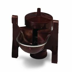 Abreuvoir automatique à coupelle inox marron