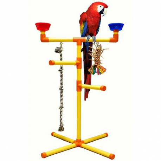 Aire de jeux PVC sur pieds grand perroquet Zoo-Max