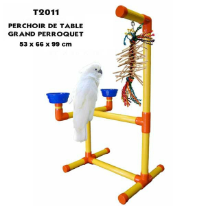 Perchoir de table PVC grand perroquet Zoo-Max