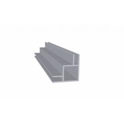 Tube carré aluminium 1 mètre double rainures 3 mm extérieures