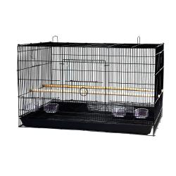 Cage d'élevage double pour canaris et perruches
