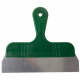 Grattoir manche plastique vert et lame inox