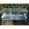 Cova 120 triple compartiments mangeoires intérieures Domus Molinari tiroirs métal