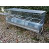 Cova 120 triple compartiments mangeoires extérieures Domus Molinari tiroirs métal